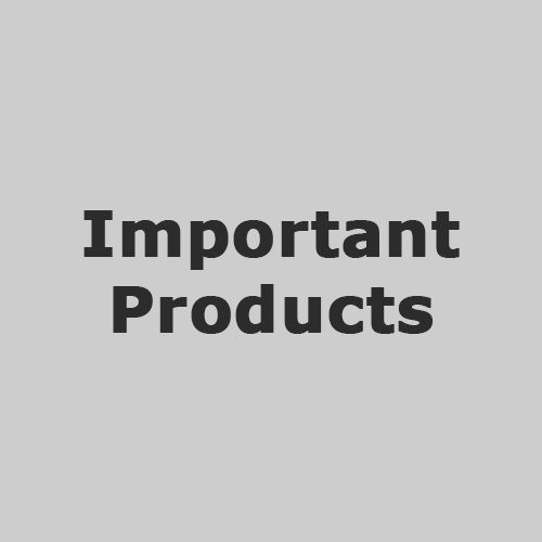 IMPORTANT PRODUCTS